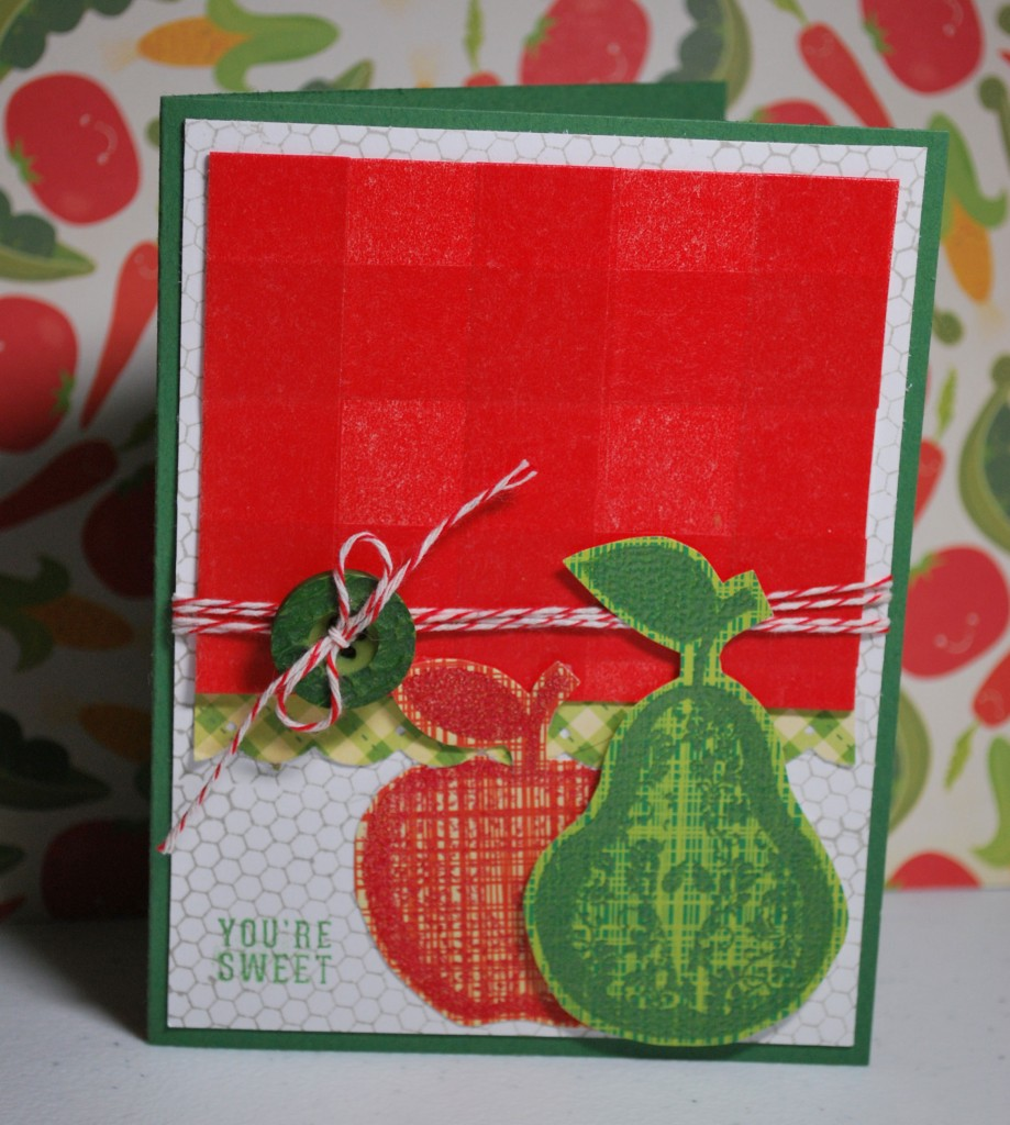 Apple and Pear Washi Card