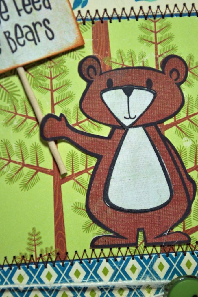 Close up of Bear by Shiny Tin Foil