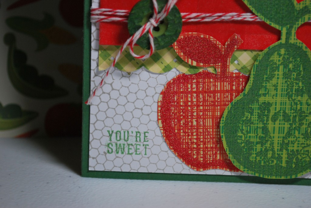 Close up of Pear and Apple Card