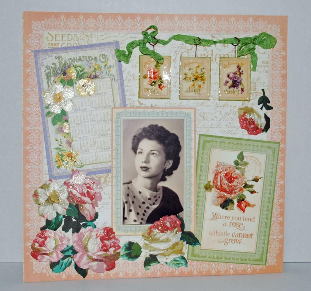 Mom layout using SEcret Garden