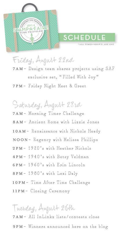stampa faire schedule