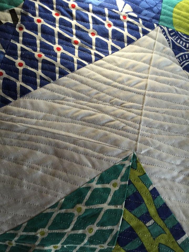 up close of quilt