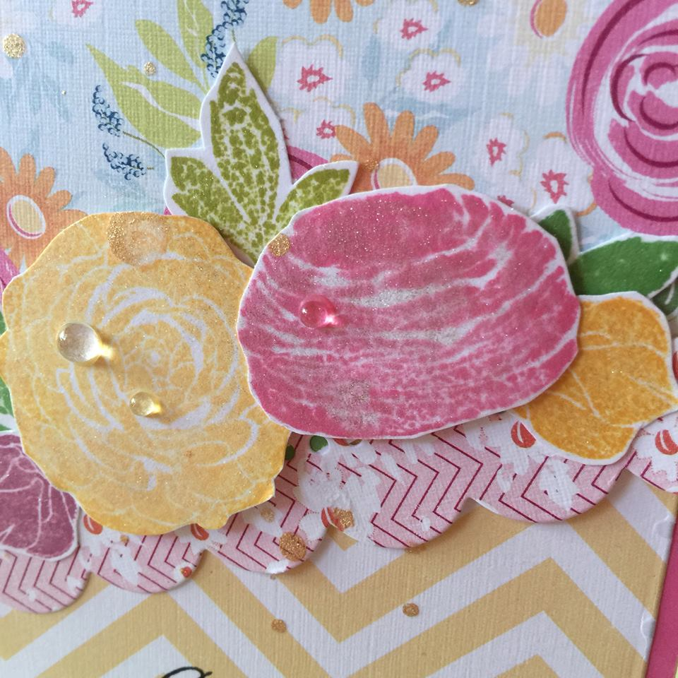 Mix and Match Flower Card Closeup