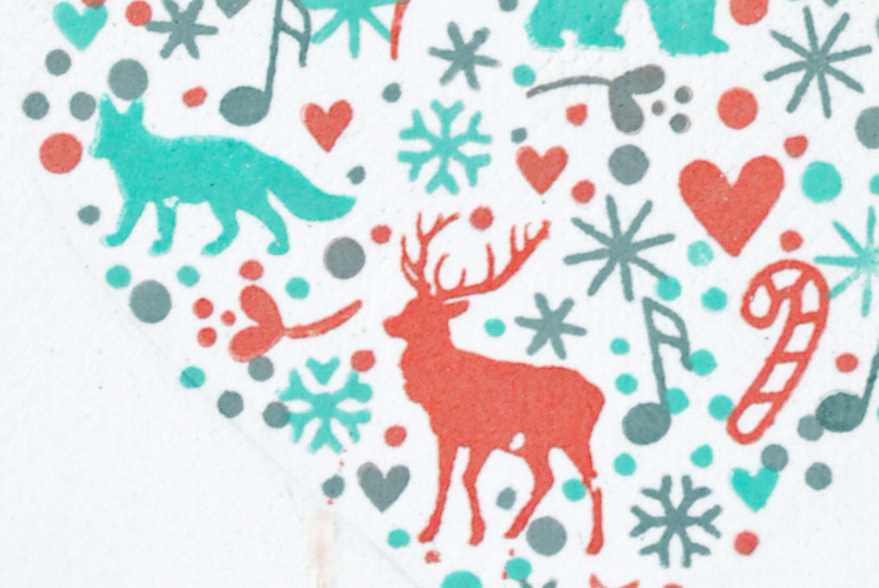 DAy 3 - Shape Stamping Close up