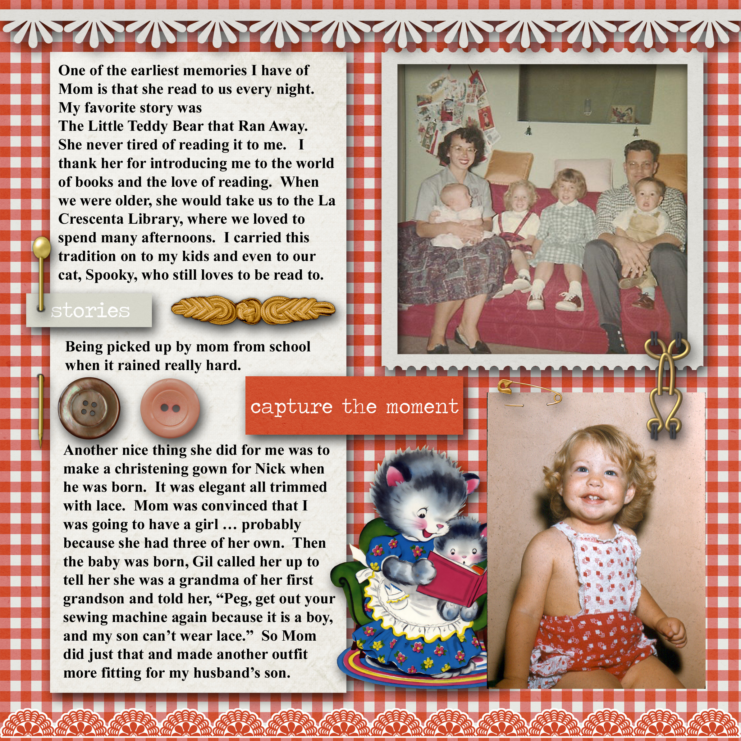How to make scrapbook for husband - Memories Of Mom