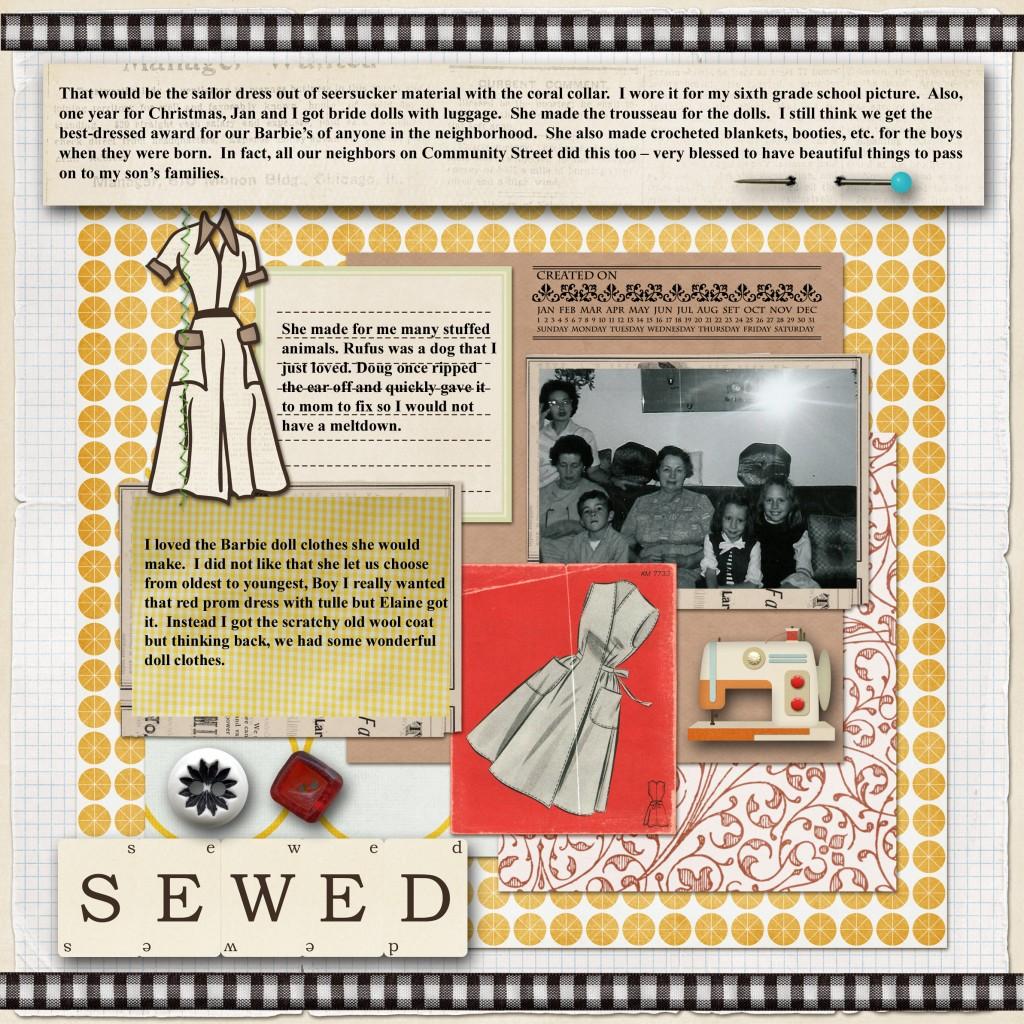 Sewed