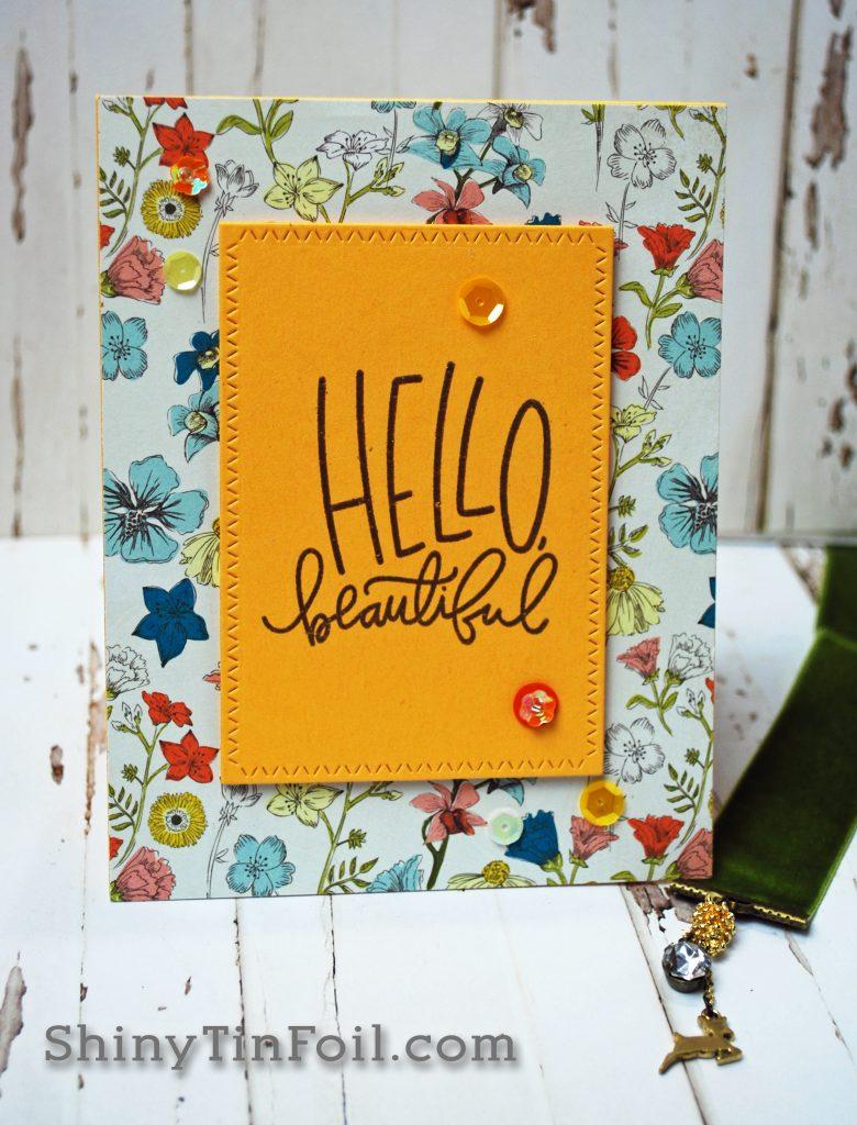 Hello Beautiful Botanical Print