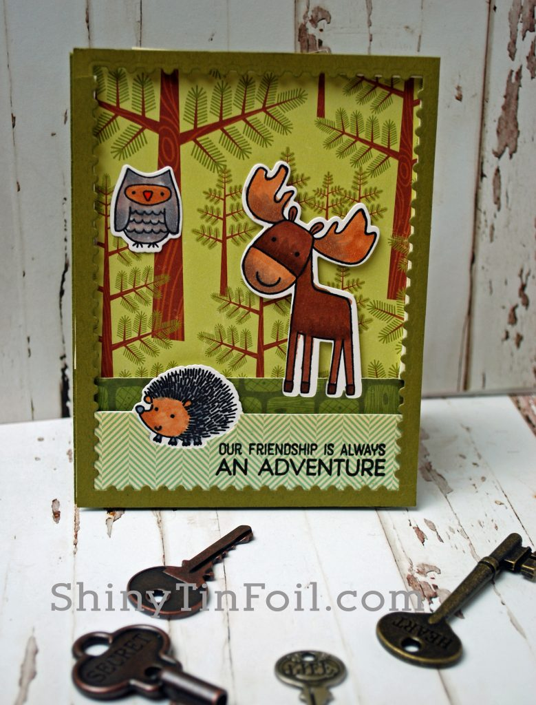 Moose Adventure die Cut Layers