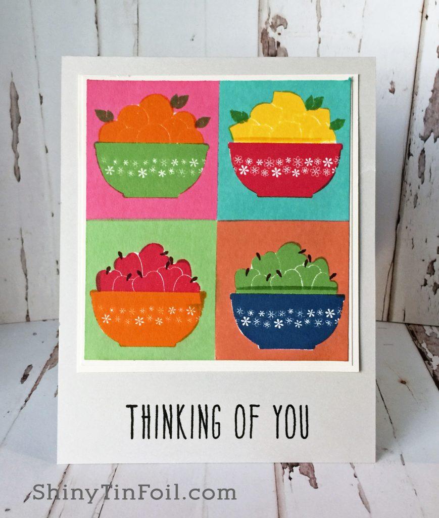 Color Blocking Fruit Bowls