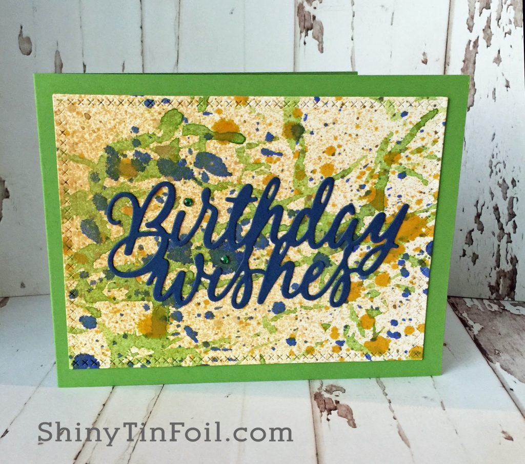 Drips and Splatters birthday card
