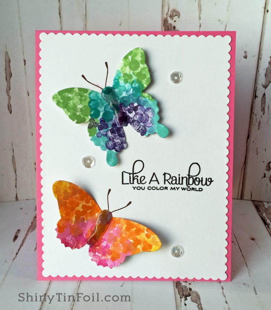 Pointillism butterflies