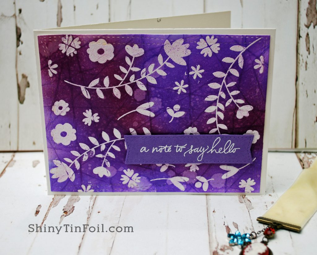 Purple Batik Card