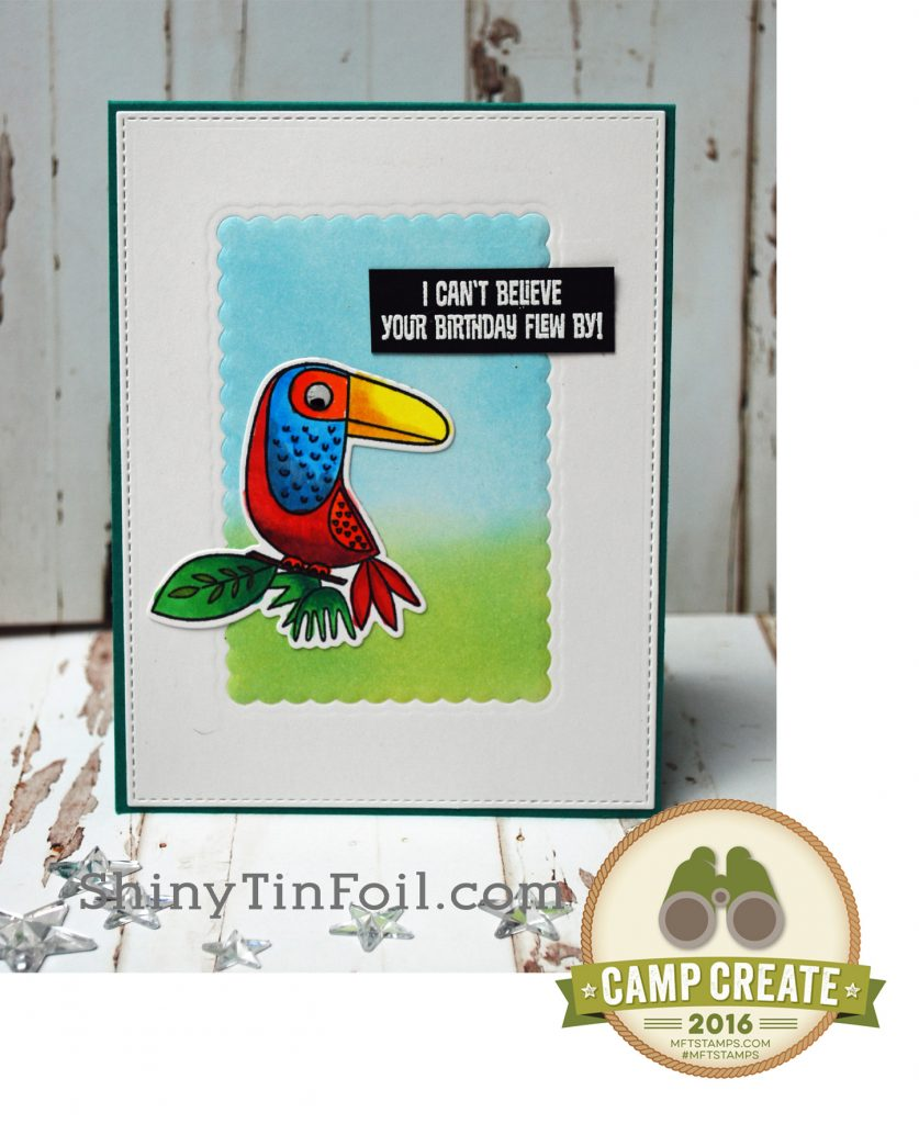 Bird emboss with symbol