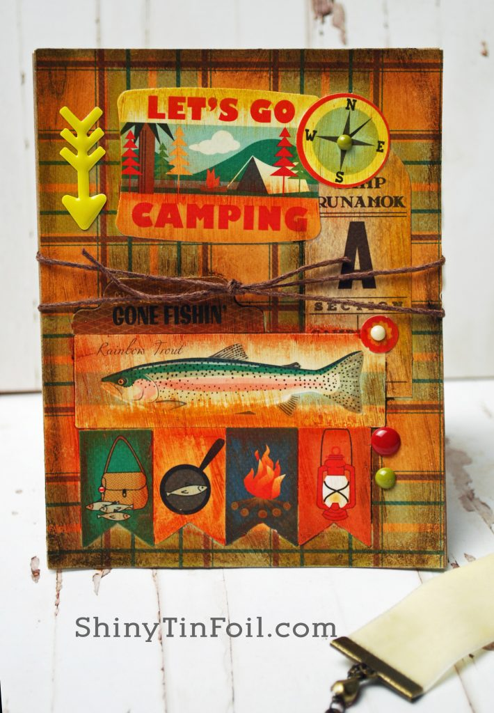 Day Three Camping Card Layered Collage Technique