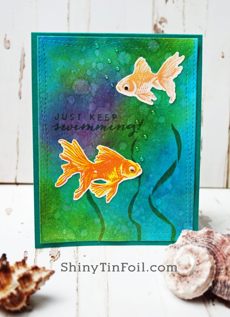 Day Two Goldfish Card Luminois Mica Technique
