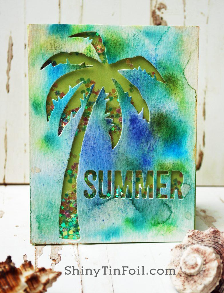 Day Two Summer Card  Distress Marker Sprintz Watercolor Technique