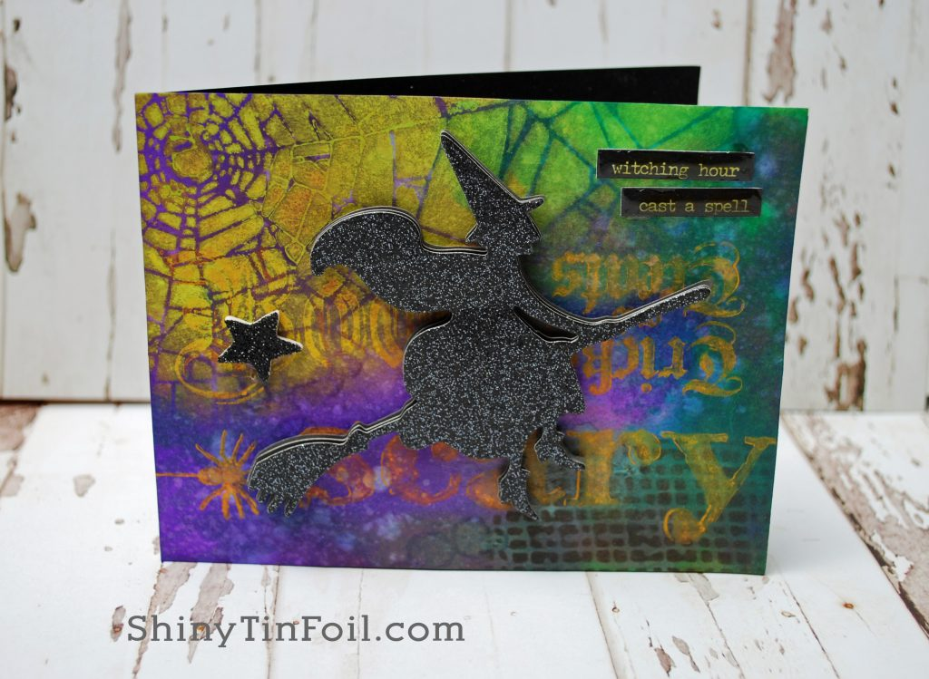 Distress Resist Paint Technique Spooky Card
